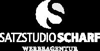 satzstudio_scharf_logo_white